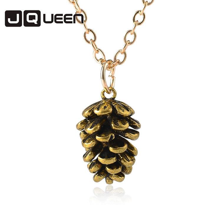 New Concise Fashion Pine Nut Botany Specimen Necklace Creative Plant Popular Pendant Choker Necklace Women Jewelry
