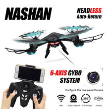 RC Drone With WIFI Camera Quadcopter Drones Headless Mode 6 Axis Gyro 4CH Drone Video 360 Degree Rollover Helicopter With Light(China)
