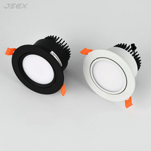 Round Dimmable Recessed LED Downlights 5W7W9W12W COB LED Ceiling Spot Lights AC110-220V Warm Cold White LED Lamp Indoor Lighting