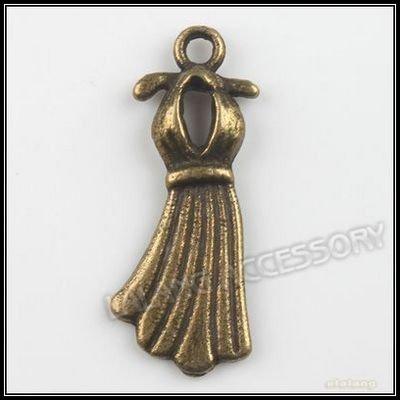 180pcs/lot Wholesale Fashion Jewelry Charms Pendants Dress Alloy Pendant Fit Bracelet & Necklace Making 23x9x2mm 140447