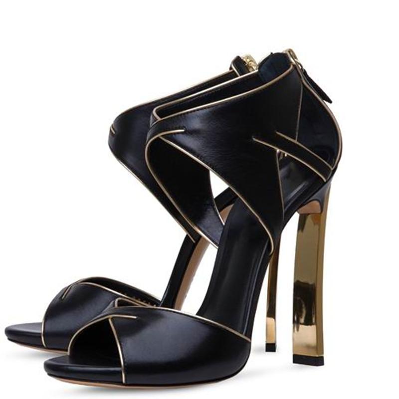 Verano Pic Altos Bombas Pic Deificación Partido Mujer as As Sandalias Blanco Estilo Zapatos Sexy Gladiador Recortable Zipper 2018 Tacones Extraño Back Negro wqwHAYa