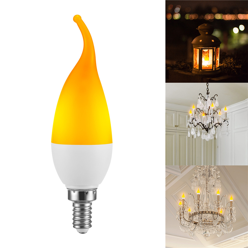 Creative 3 Modes+Gravity Sensor LED Flame Lights E27 E14 Flame Effect Fire Light Candle Bulb 5W Flickering Emulation Decor Lamp