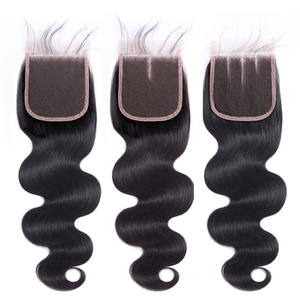 Image 3 - 3pcs BY Peruvian Hair Bundles with Closure Body Wave Bundles with Closure With Baby Hair Remy Human Hair Extension Weaving Soft