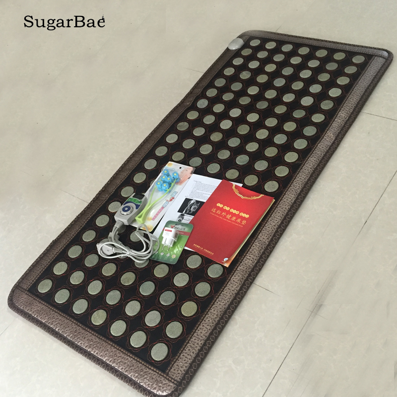 New Sale Tourmaline Jade Stone Massage Cushion Thermal Sofa Mattress Soft Jade Mat Infrared Heating Mat 70X160CM Free Shipping-in Massage & Relaxation from Beauty & Health    1