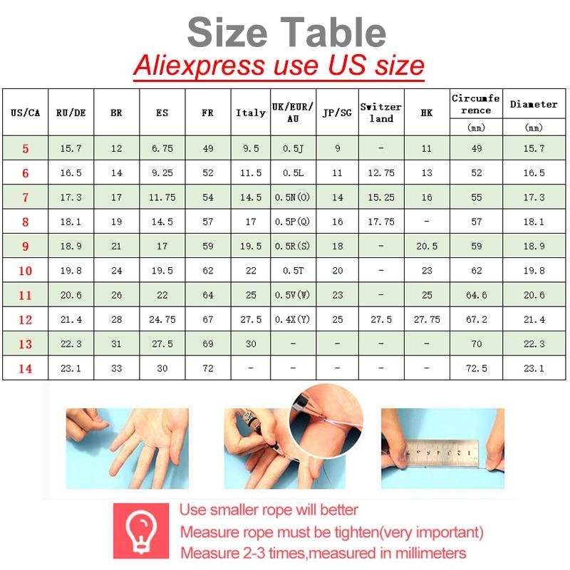 XUANPAI 11mm Chunky bagues de fiançailles pour les femmes Bling CZ pierres en acier inoxydable élégant bande de mariage femme Anel bijoux - 6
