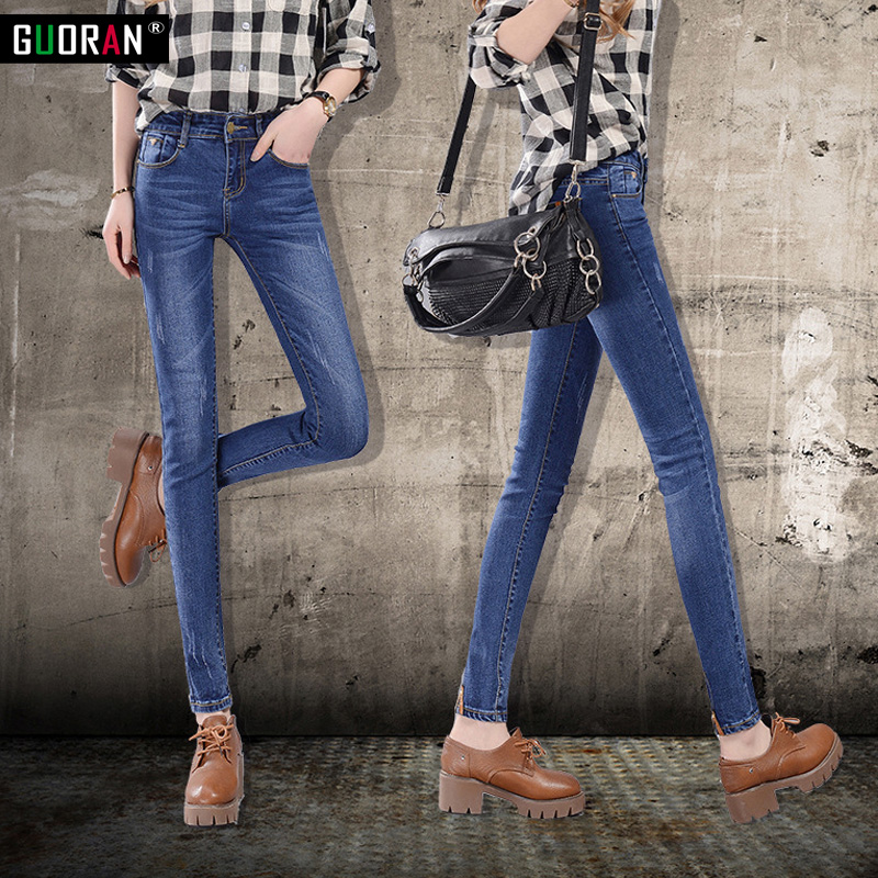 Spring Fashion Plus Size High Waist Jeans High Stretch Women Jeans Woman Femme Washed Casual Skinny Softner Pencil Denim Pants