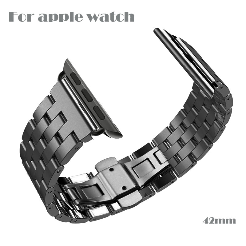Quality Full Stainless Steel Space Gray Watchband For Apple Watch Band 38mm 42mm Bracelet Strap Hidden Clasp Sport Edition eyki h5018 high quality leak proof bottle w filter strap gray 400ml