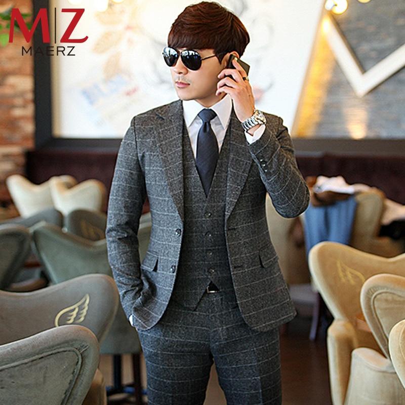 Online Get Cheap Men's Fashion Casual Slim Suit Pants Skinny ...