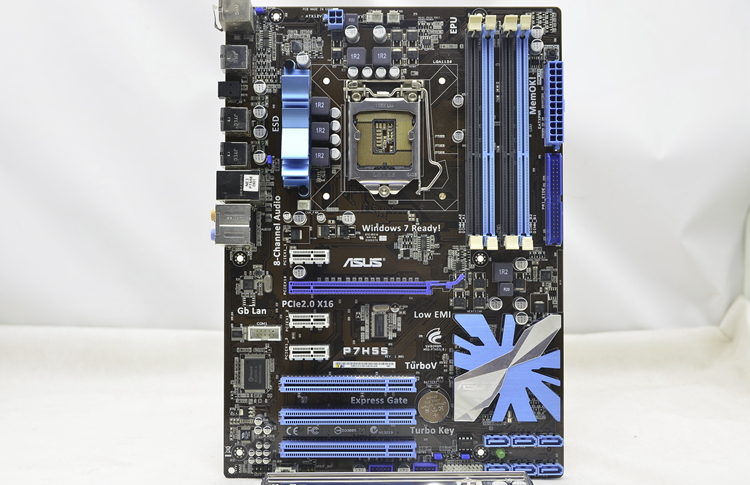 Used,ASUS motherboard P7H55 Intel H55 Socket LGA 1156 i3 i5 i7 DDR3 16G asus ga h55 ud3h h55 1156 computer motherboard with integrated needle i3 530 i3 750 quad core cpu package