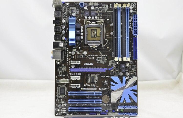 Used,ASUS motherboard P7H55 Intel H55 Socket LGA 1156 i3 i5 i7 DDR3 16G SATA3 USB3.0 ATX asrock h61m vg4 original used desktop motherboard h61 socket lga 1155 i3 i5 i7 ddr3 16g usb2 0 micro atx