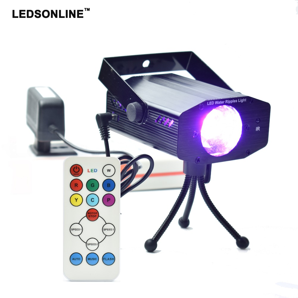 Black water ripples light with remote controller LED Disco home Light Stage Xmas Party Laser stage Lighting  Tripod EU US plug xl m 03 4 in 1 stage lighting projector mp3 player speaker w usb sd remote controller tripod