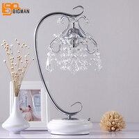 Новый красивый кристалл настольная лампа свет современный кристалл настольные лампы для спальни