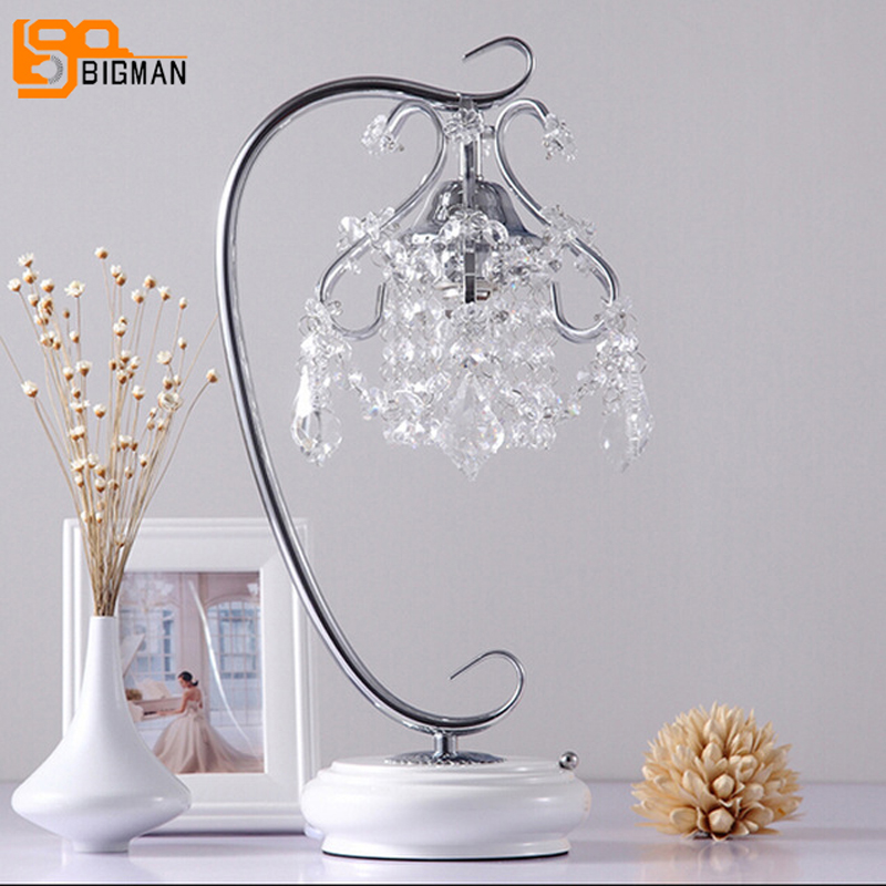 new beautiful crystal lamp table light modern crystal table lamps for bedroom