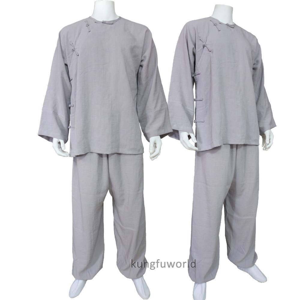 Custom Make 18 Colors Linen Shaolin Monk Wudang Taoist Old Style Kung fu Suit Wing Chun Tai Chi Uniforms old monk в москве