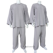 Customized Make 18 Colours Linen Shaolin Monk Wudang Taoist Outdated Type Kung fu Swimsuit Wing Chun Tai Chi Uniforms