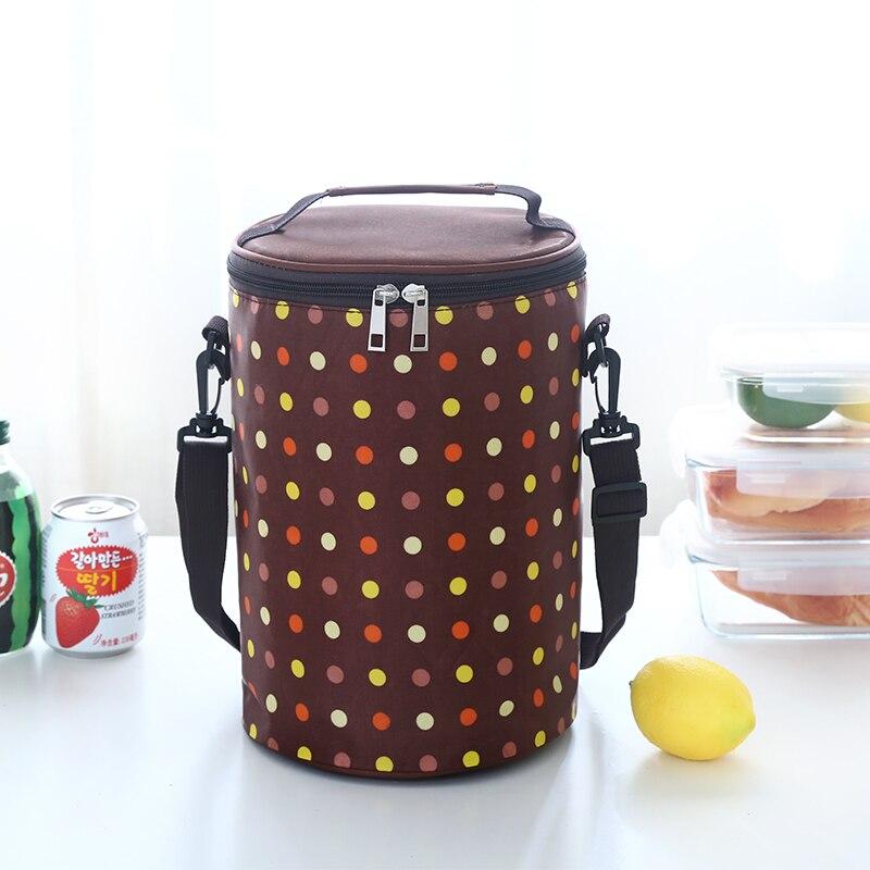 Круглые коробки сумка для ланча Водонепроницаемая Термосумка ремень для барабана portableLarge - Цвет: Красный