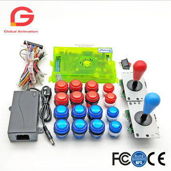 2 Player DIY Arcade Kit Pandora Box 6 1300 In 1 Game Board + 5Pin HAPP Style Joystick + 5V LED Push Button for Arcade Machine