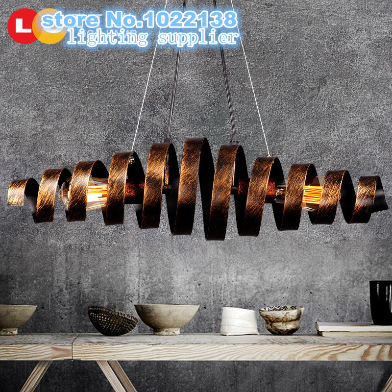 Loft Retro rust Wrought Iron Vintage Pendant Lights Industrial Pendant Lamps Bar Cafe Restaurant Hanging Lamp luminaria Lighting loft retro vintage pendant lights industrial wrought iron pendant lamps bar cafe restaurant suspension luminaire home lighting