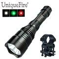 UniqueFire HS801 XP-E зеленый/красный/белый светильник светодиодный светильник для вспышки Hog & Coyote фонарь для охоты с креплением для прицела QQ07  3 реж...