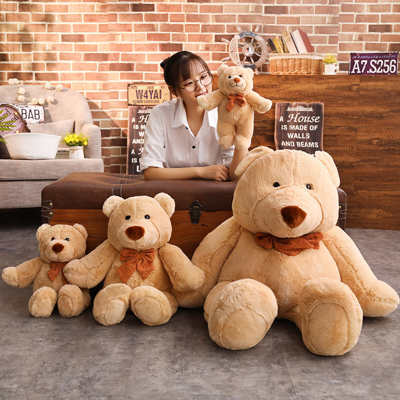 35 45 65 85 Cm Big Size Soft Smiling Bear Plush Toys Stuffed Plush Animals Soft Bear Toy For Valentine 39 s Day in Movies amp TV from Toys amp Hobbies