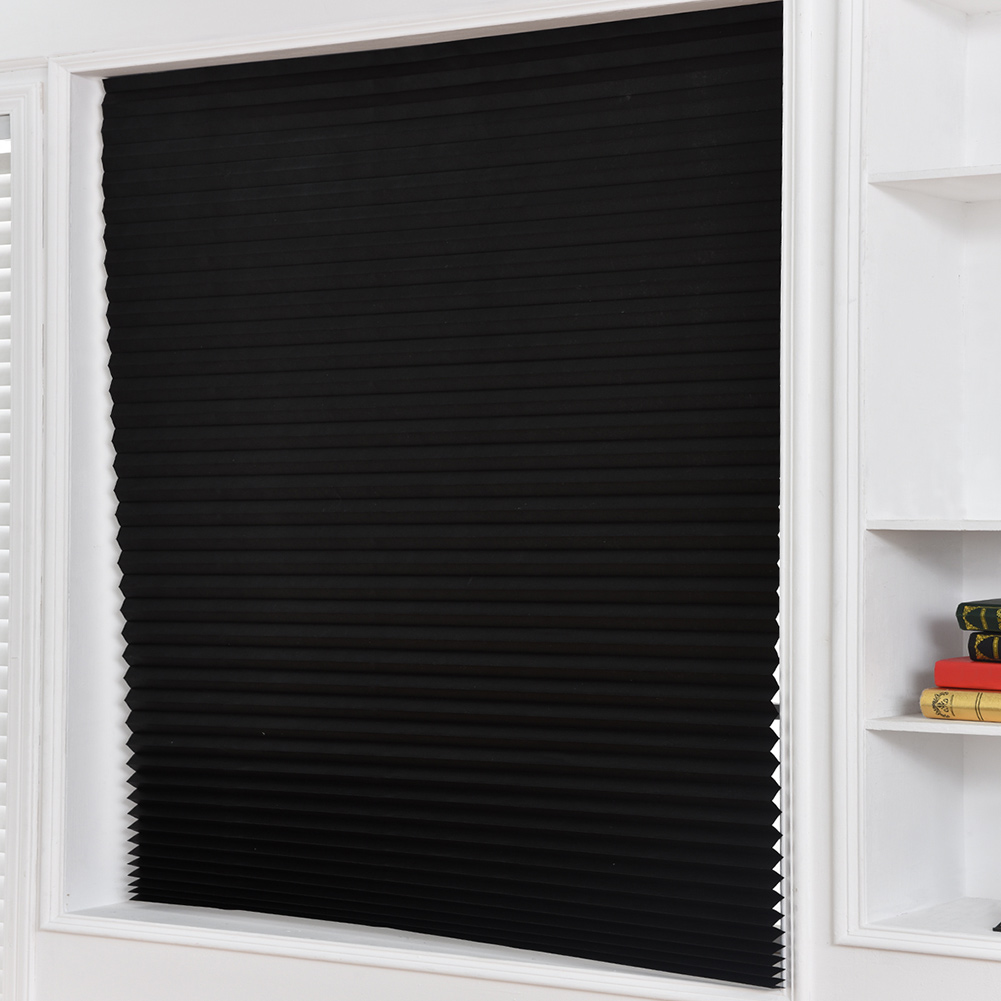 Pleated Paper Curtain Light Filtering Adhesive Inside Mount Cordless Cellular Shade XHC88