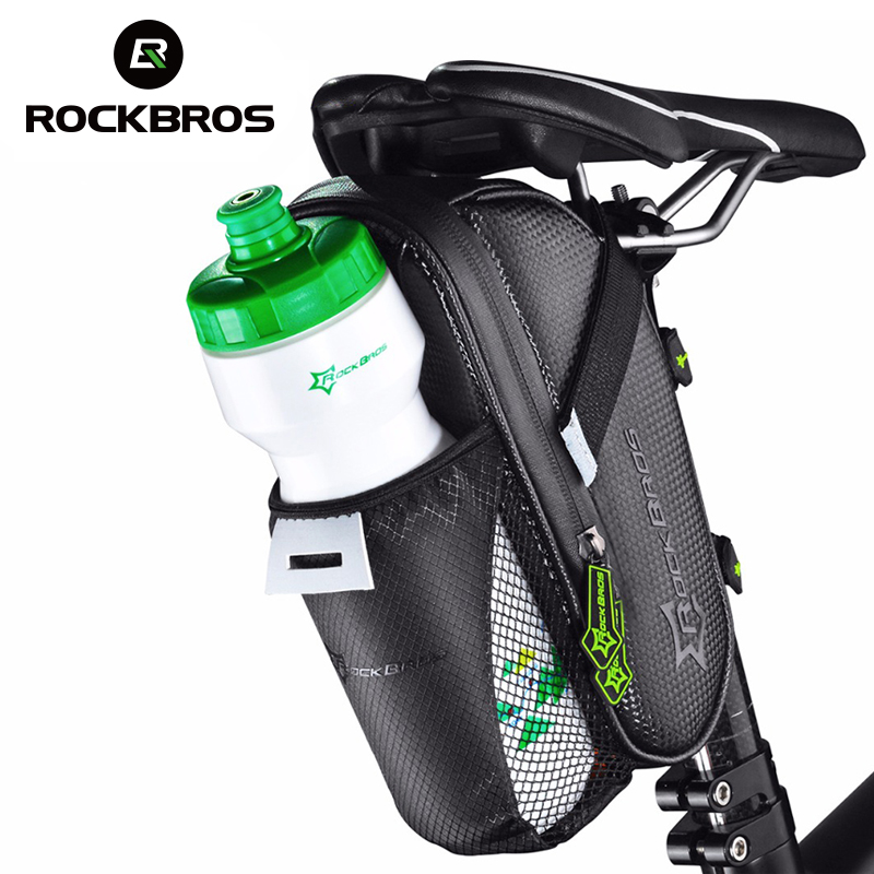 ROCKBROS MTB Bike Rear Bag Rainproof Nylon Bike Saddle Front Bag Outdoor Cycling Mountain Bike Back Seat Tail Pouch Package road bike led saddle bag mtb mountain bicycle seat post bag cycling bicicleta waterproof seat tail pouch rear safe package