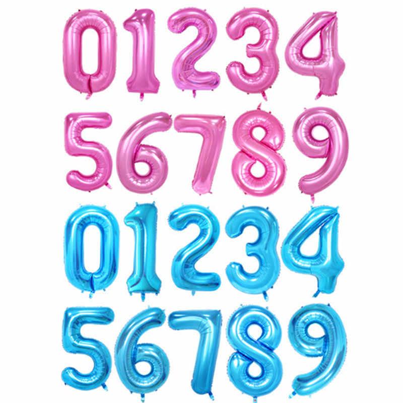 """1 шт 40 """"Цифры воздушные шары цифровые фольгированные шары для дня рождения украшения детей взрослых юбилей воздушные гелиевые шары"""