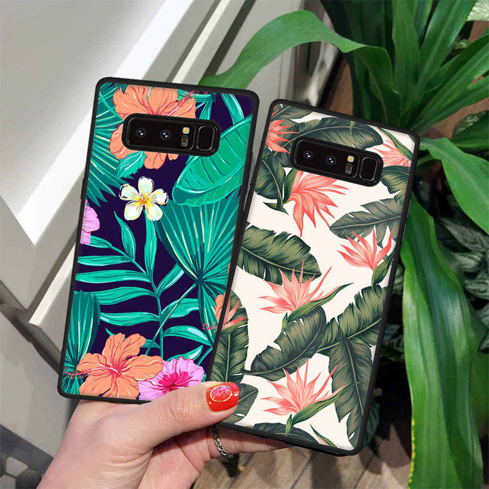 TPU Phone Case For Samsung Galaxy Note 9 8 For Samsung Note9 S9 S8 Plus S6 S7 Edge Flowers Cute Cat Animals Pattern Cover Cases