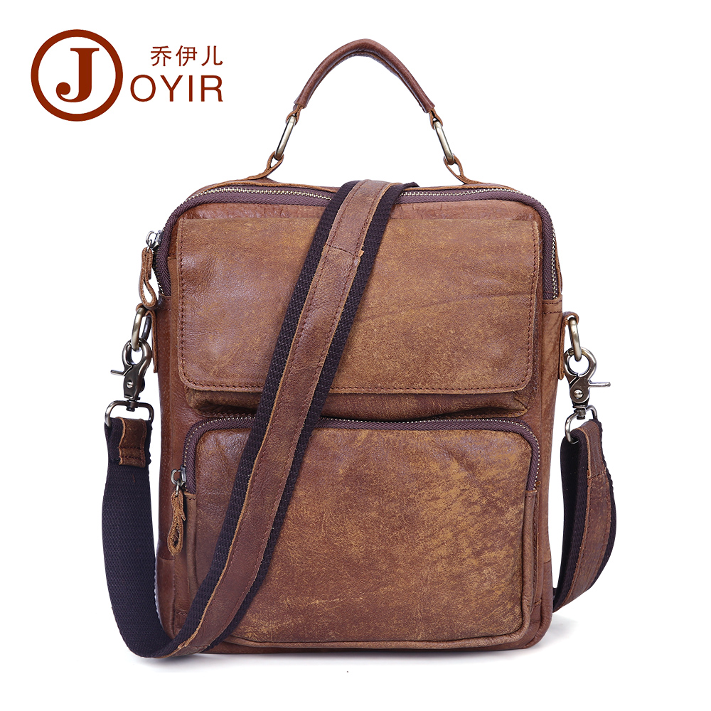 ФОТО 2017 2016 New Men Casual Small Bag Genuine Leather Shoulder Bag Leather Messenger Crossbody Travel Bag Handbag for Men Male1309