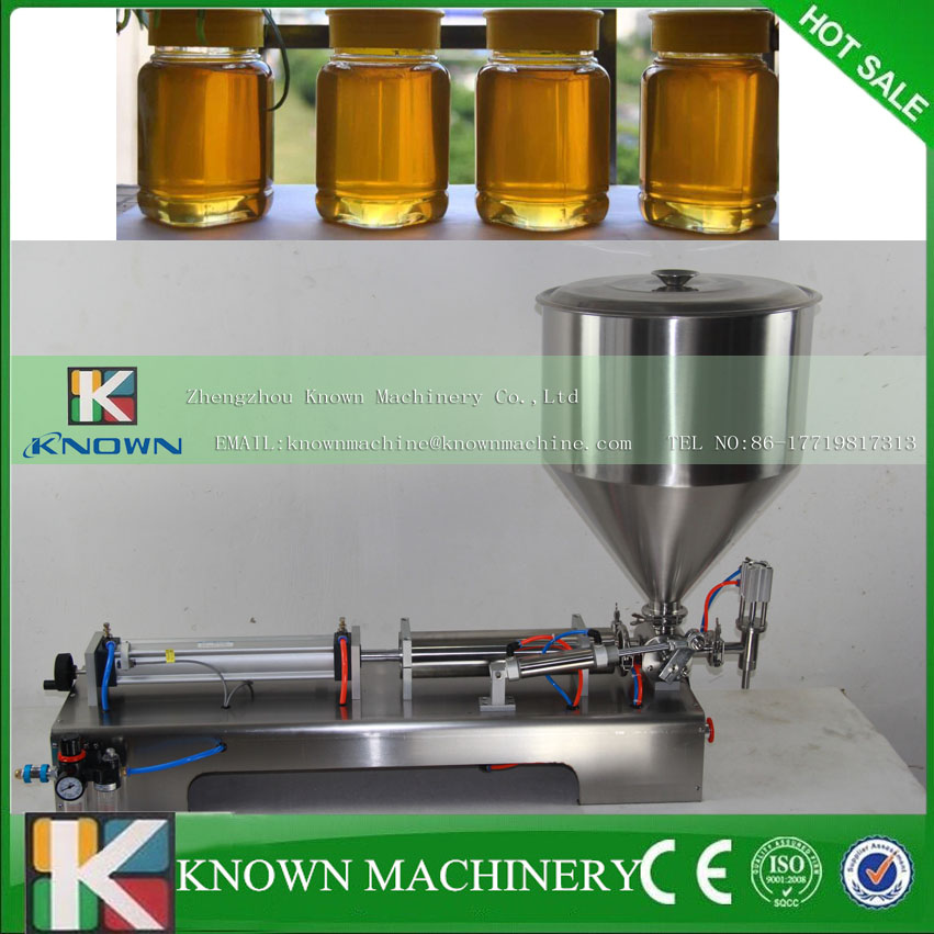 304 stainless steel semi-automatic Peanut butter filling machine,chili sauce filling machine  double hopper stainless steel semi automatic food chemical particle filling machine