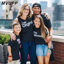 Fashion mother daughter t shirt for father son matching outfit clothes outfits family look mommy and me Original Mic DRop REmix