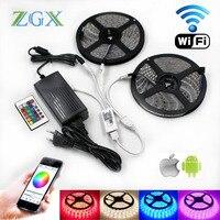 5050 RGB Wifi Controller LED Strip Light 5M 10M 15M 60led M Waterproof Ip 65 Neon