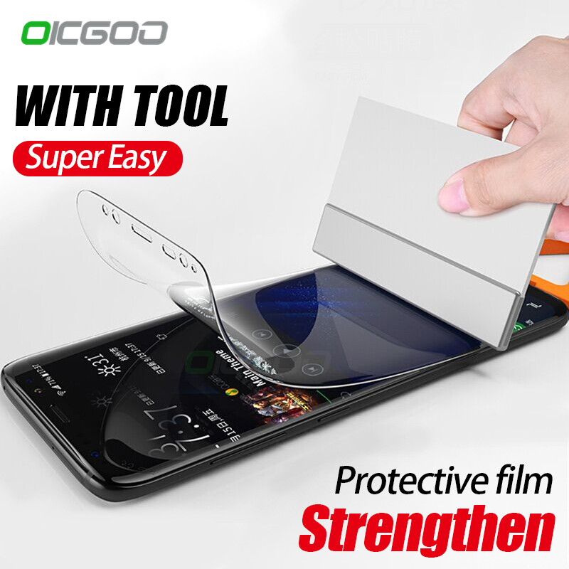 OICGOO Full Cover Soft Hydrogel Film For Samsung Galaxy S9 S8 Plus S6 S7 Edge Soft Film For Samsung S8 S9 Note 8 Film Not Glass