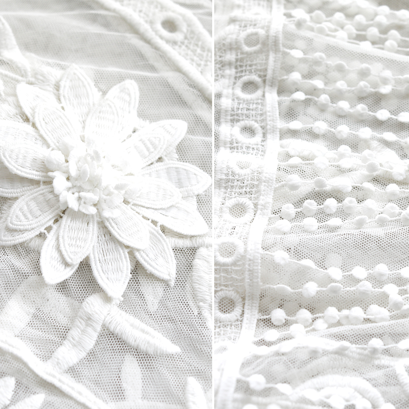 G495017 Camicetta Delle Donne Della Camicia Del Merletto Femminile Primavera a maniche lunghe Con Scollo A V Temperamento Camicetta Camicia Solido Causale Magliette e camicette - 5
