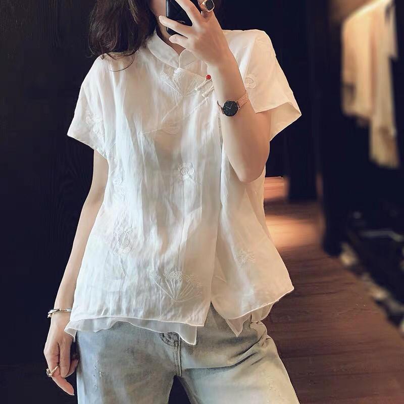 2019 été nouvelle chemise brodée pour femme - 2