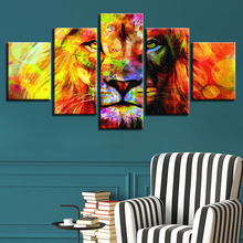 5pcs DIY Diamond Painting Colorful lion Full Square Embroidery Mosaic Picture Of Rhinestone H349
