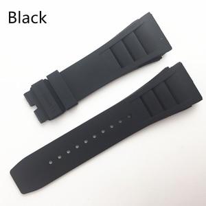 Image 3 - MERJUST 20mm Rood Zwart Groen Grijs Oranje Geel Zachte Siliconen Rubber Horlogeband Voor Richard Horloge Mille RM011 Band Armband