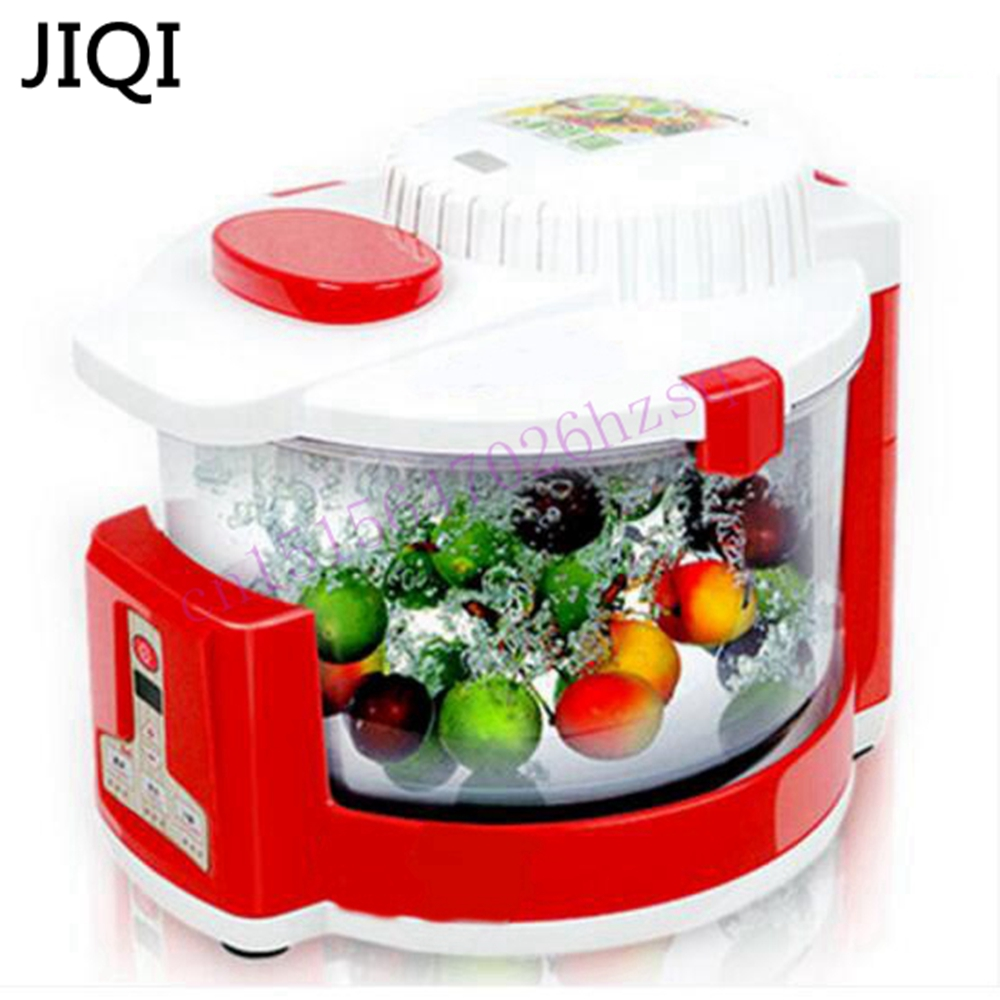 JIQI Ozone machine Vegetable washer Automatic ozone disinfection machine Household fruit and vegetable pesticide Detoxification 220v household fruit and vegetable disinfection machine automatic ozone washing machine decomposition pesticide sterilization