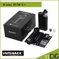 100% original wismec reuleaux rx75 starter kit com tc 75 w reuleaux rx75 caixa mod e 2 ml amor mini atomizador