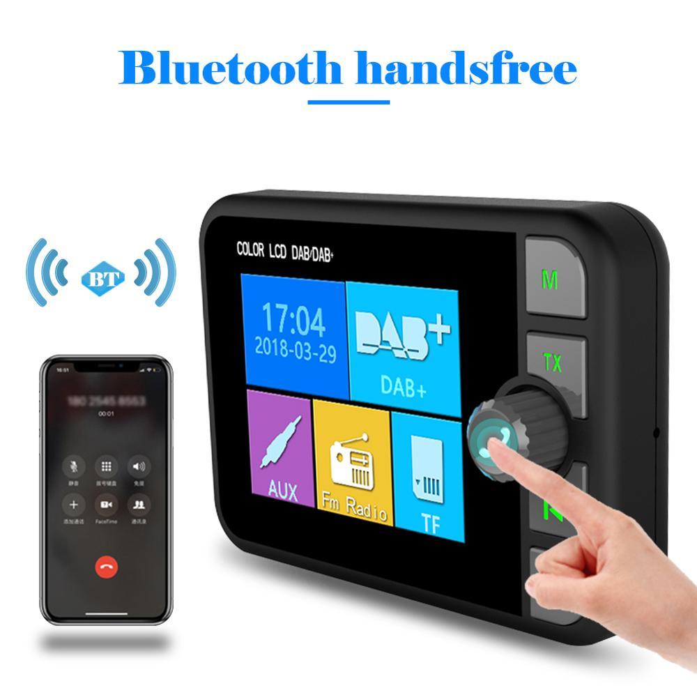 2.4 pouces 2 Din Autoradio C6 voiture DAB Radio récepteur FM émetteur couleur LCD affichage Bluetooth mains libres lecteur de musique voiture Audio