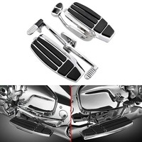 Motorcycle Chrome Driver Foot Board Floorboard Kits For Honda Goldwing GL1800 & F6B 01 17 Valkyrie 14 15