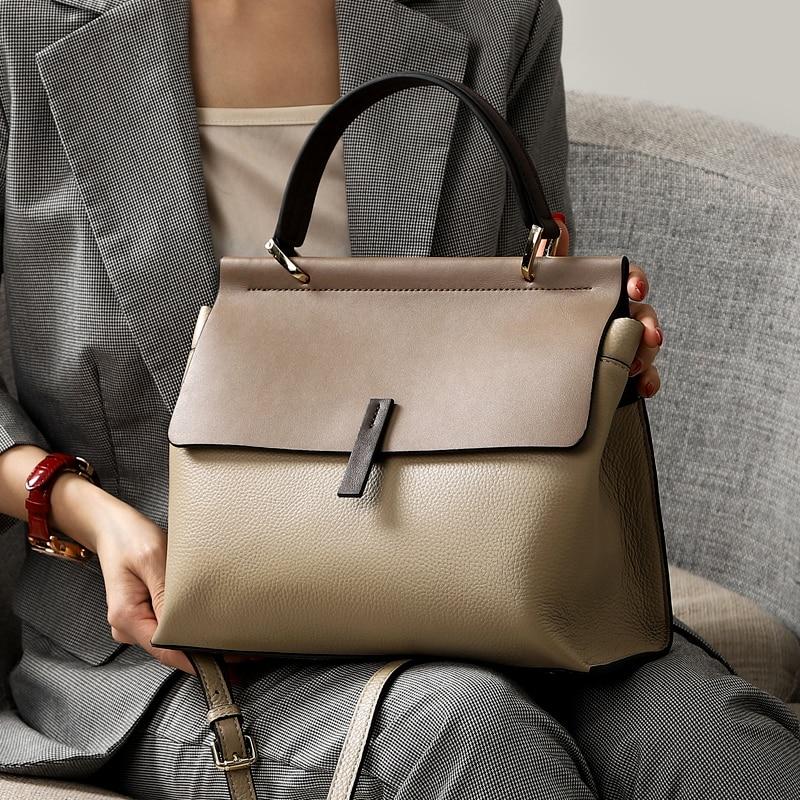 NEW Genuine Leather Bag Ladies Handbag Women Shoulder Bag Women Messenger Bag Female Crossbody Bag Tote Tablets Big 2019