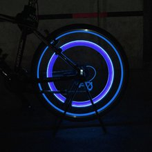 2 pcs Bike Lights Bicycle Car Wheel Tire Valve Cap Spoke Neon LED Lamp Blue Color