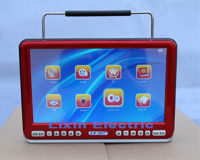 2016 New Television 9 Inch Portable Tv Radio E-book Picture Playback with Speaker And Earphone Keyboard Lock/sleep Function