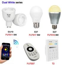 Milight 5w 6W 9W GU10 E27 Color Temperature LED lamp Dual White Spot light AC100~240V FUT011/FUT017/FUT019/FUT007/T2 2.4G Remote kzkrsr original milight led bulbs 4w 5w 6w 9w gu10 e27 e14 rgbw rgbww lamp wireless control wifi 4zone 2 4g rf remote controller