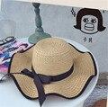 Новое Прибытие Пляж Соломенная Шляпа Женщин Женский Летний Открытый Лук Шапки УФ-Защитой женщин Пляж Sunhat Мода Strawhat Sunbonnet