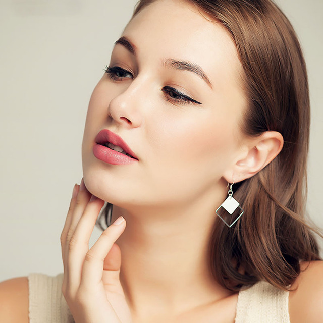 Top Fashion Hollow Square Earrings For Women 3