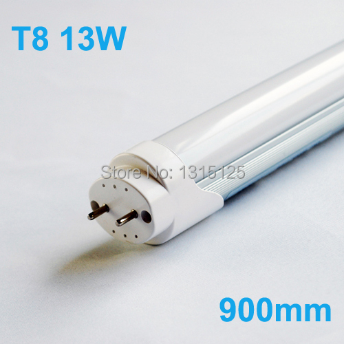 Led Tube Lights 900mm T8 13W Tubes Led 90 cm SMD 2835 Super Brightness Led Bulbs Fluorescent Tubes AC85-265V 50pcs integrated t8 tube144pcs smd 2835 1800mm 6feets 36w led tube light fluorescent lamp t8 85 265v led tubes