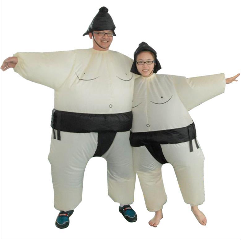 Purim Inflatable Sumo Costume Suits Wrestler Halloween Costume for Boys Girl Men Women Adults Kids Fat Man Airblown Sumo