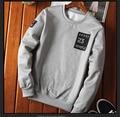 winter style men Hoodies & Sweatshirts fashion brand print O-Neck slim casual Sweatshirts for men grey black blue Streetwear